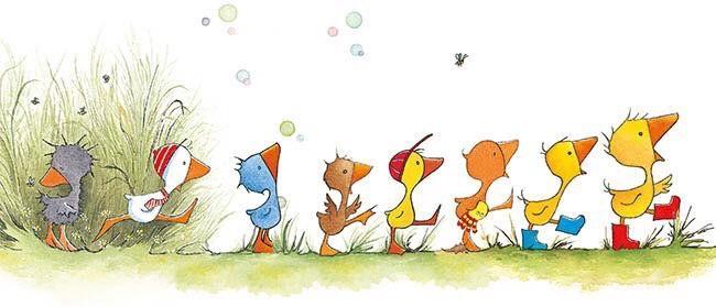Kinderverjaardag slurppraat Gonnie en haar vriendjes