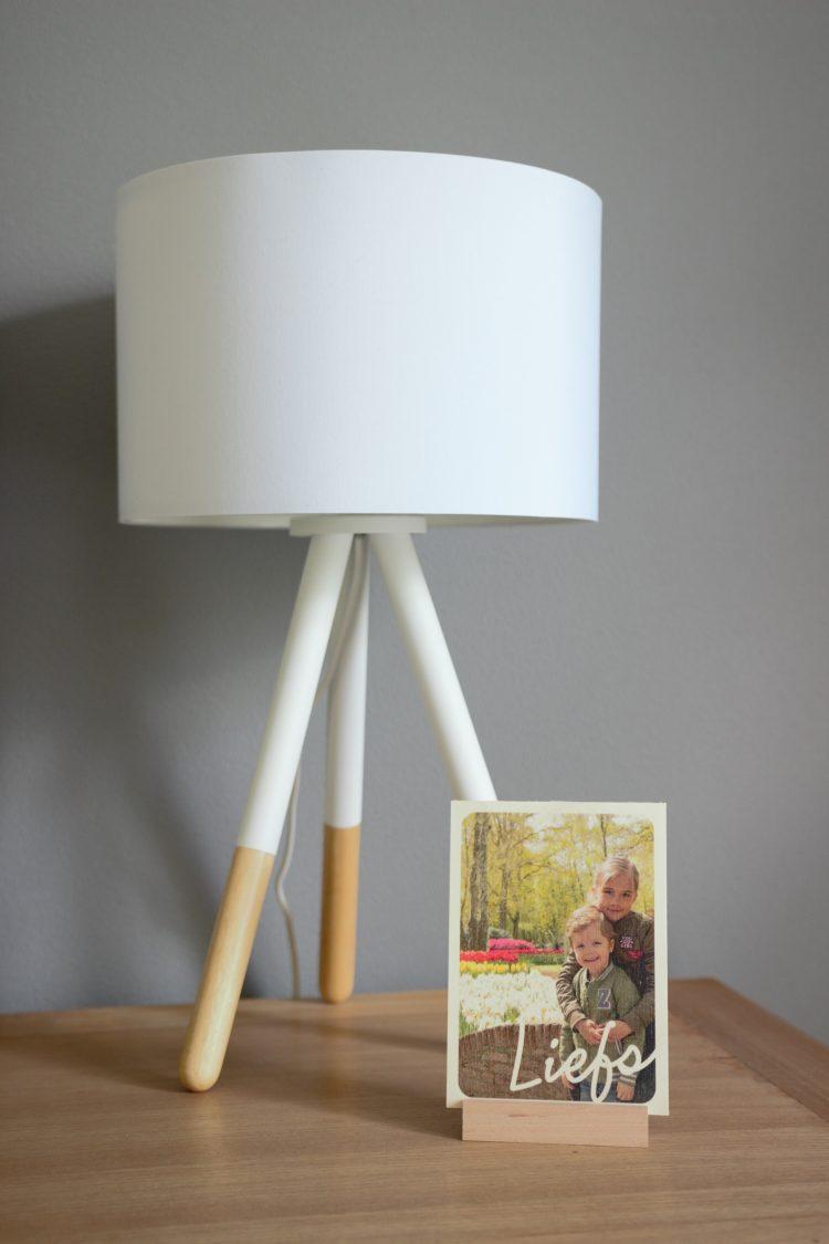 Moederdag foto op hout kaart Hallmark