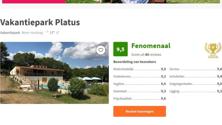 frankrijk vakantie zoover reviews golden award nederlandstalig kindvriendelijk